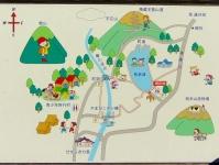 紅葉2015七ヶ宿8横川渓谷公園案内板(長老湖やまびこ吊橋)