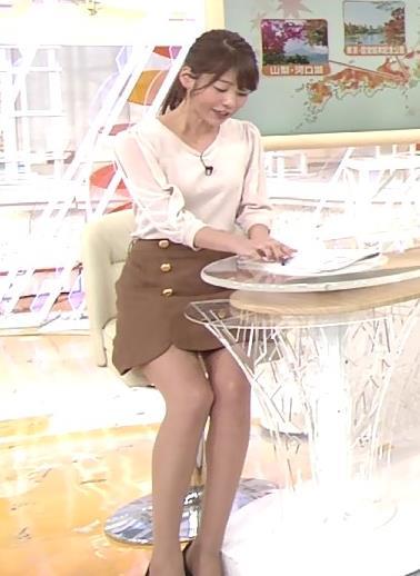 岡副麻希アナ 太もも見えてるけど細すぎ
