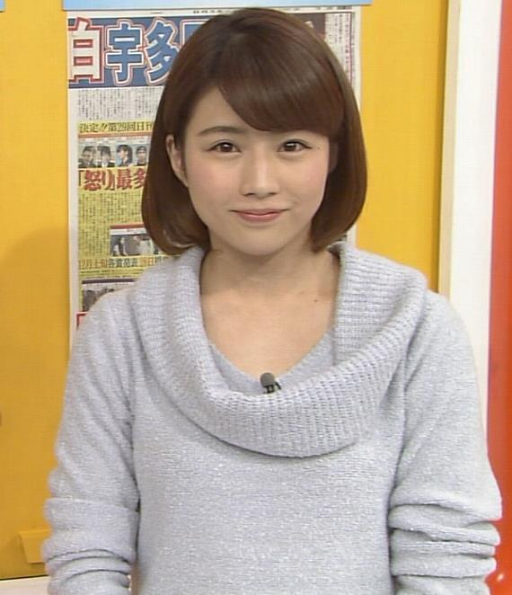 田中萌 ニットおっぱい画像