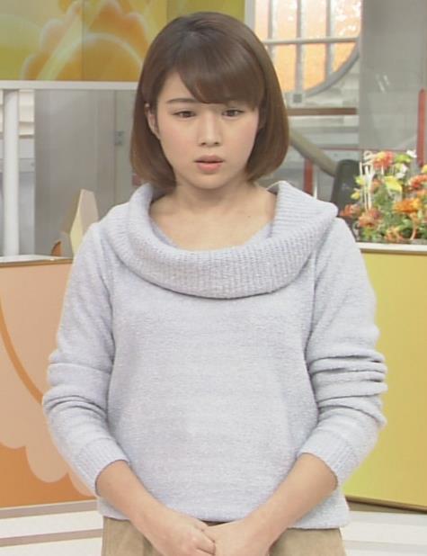 田中萌 ニットおっぱい画像4