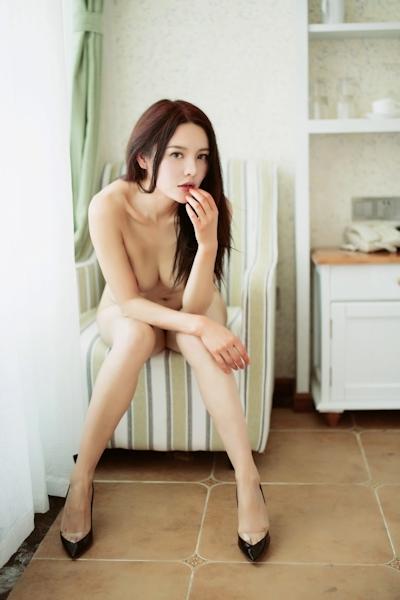 中国美女モデル 樱桃(Yingtao) セクシーヌード画像 8