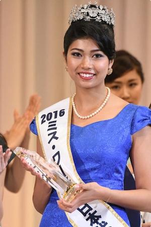 ミス・ワールド 日本代表にインド人ハーフ美女・吉川プリアンカさん -毎日新聞