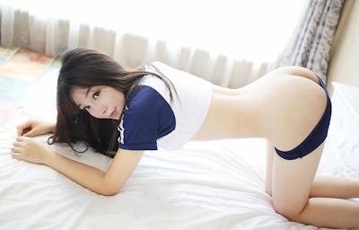 中国美女モデル 芝芝Booty セミヌード画像 3
