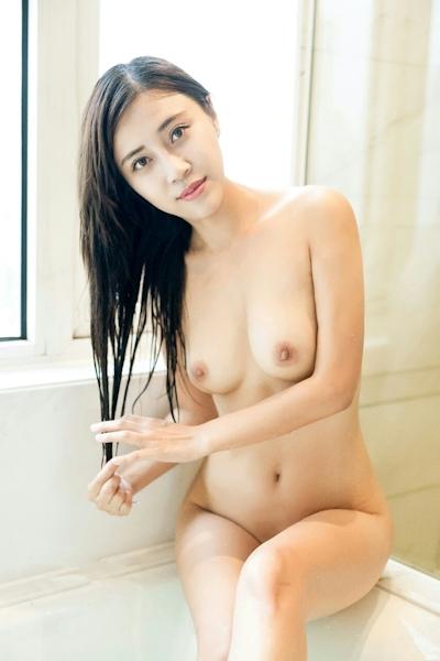 中国巨乳美女モデル 舒欣宝儿(Shuxinbaoer) 入浴ヌード画像 13