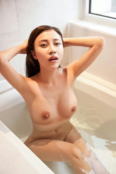 中国巨乳美女モデル 舒欣宝儿(Shuxinbaoer) 入浴ヌード画像 18