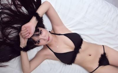 中国美女モデル 妮儿Bluelabel セクシーセミヌード画像 3