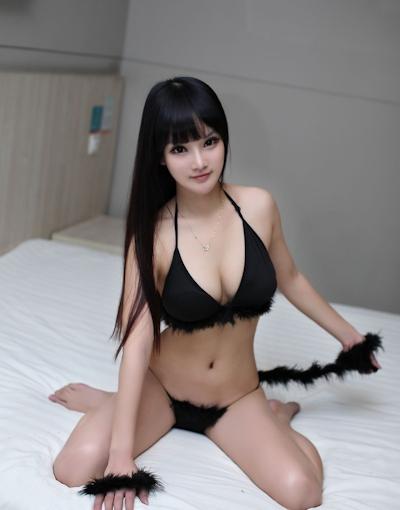 中国美女モデル 妮儿Bluelabel セクシーセミヌード画像 6