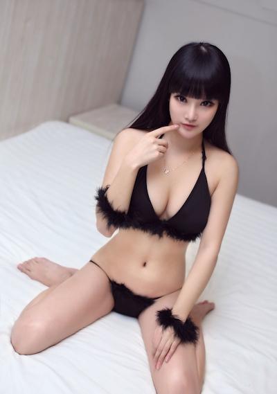 中国美女モデル 妮儿Bluelabel セクシーセミヌード画像 7