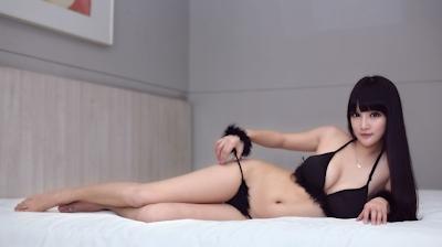 中国美女モデル 妮儿Bluelabel セクシーセミヌード画像 8
