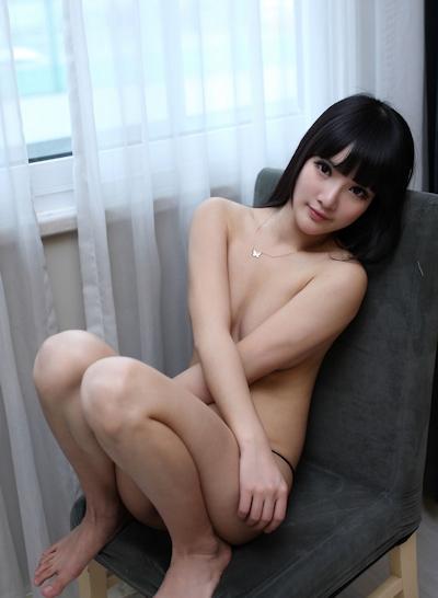 中国美女モデル 妮儿Bluelabel セクシーセミヌード画像 12