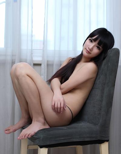 中国美女モデル 妮儿Bluelabel セクシーセミヌード画像 13