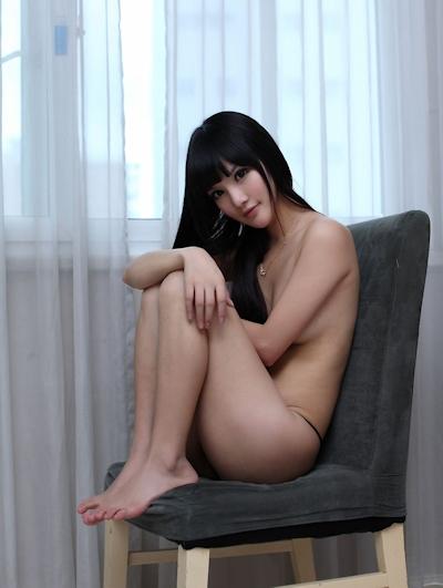 中国美女モデル 妮儿Bluelabel セクシーセミヌード画像 14
