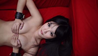 中国美女モデル 妮儿Bluelabel セクシーセミヌード画像 16