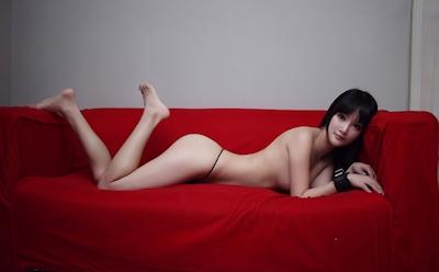 中国美女モデル 妮儿Bluelabel セクシーセミヌード画像 17