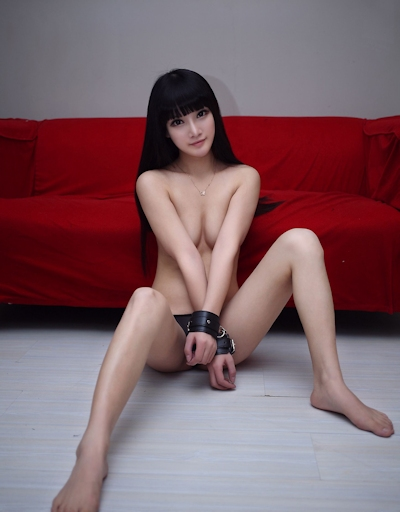 中国美女モデル 妮儿Bluelabel セクシーセミヌード画像 18