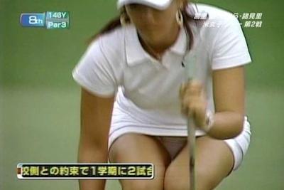 女子ゴルフ選手 セクシーショット 1