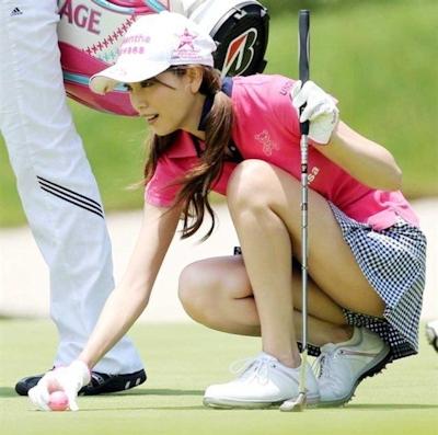 女子ゴルフ選手 セクシーショット 2