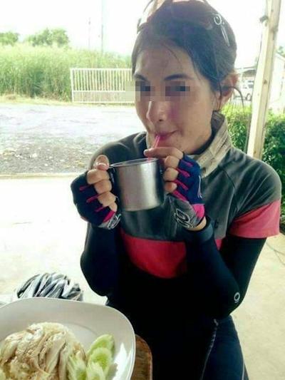 自転車乗りの美女の自分撮りヌード流出画像 1