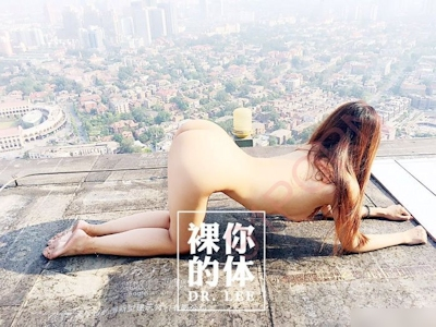 高層ビルの屋上で撮影した中国女性のヌード画像 5