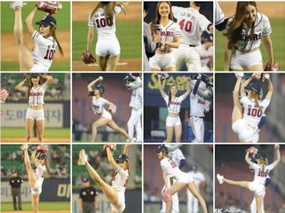 韓国マッスル美女 Choi Seol Hwa(チェ・ソルファ)のムチムチヒップなセクシー始球式 7
