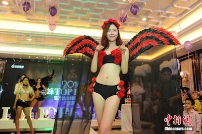 中国・太原でVictoria's Secretを模したランジェリーショーを開催 3