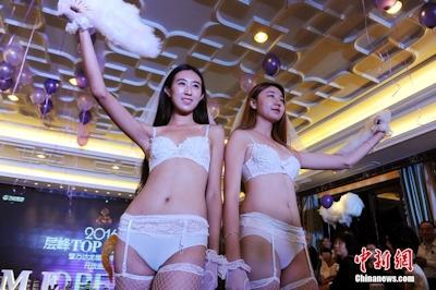 中国・太原でVictoria's Secretを模したランジェリーショーを開催 5