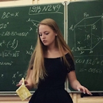 巨乳なベラルーシの美人数学教師?