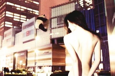 中国美女のアートな野外露出ヌード画像 5