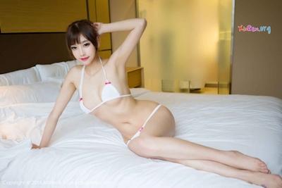 中国美女モデル sugar小甜心CC ビキニ画像 13