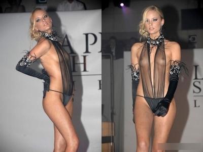 ファッションショーで乳首が見えてるモデルの画像 1