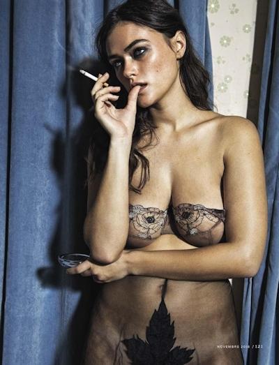 フランスモデル Camille Rowe(カミラ・ロウ) ヌードグラビア画像 1