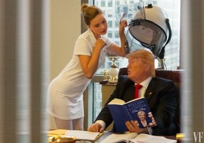 トランプが大統領になったらこんな感じにセクハラ三昧?という画像 3