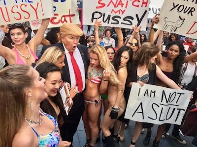 トランプが大統領になったらこんな感じにセクハラ三昧?という画像 7