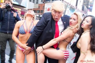 トランプが大統領になったらこんな感じにセクハラ三昧?という画像 9