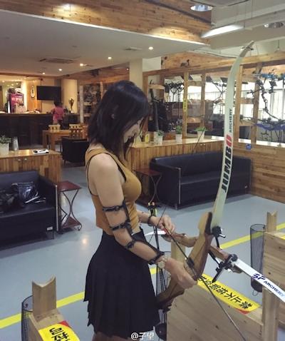 中国の超美人アーチェリー選手 子望 2