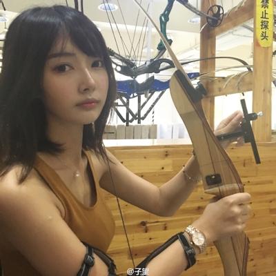 中国の超美人アーチェリー選手 子望 3