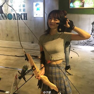中国の超美人アーチェリー選手 子望 7