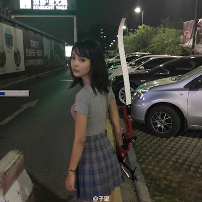 中国の超美人アーチェリー選手 子望 8