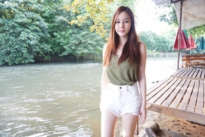 タイのジュース屋の巨乳美人店主 8