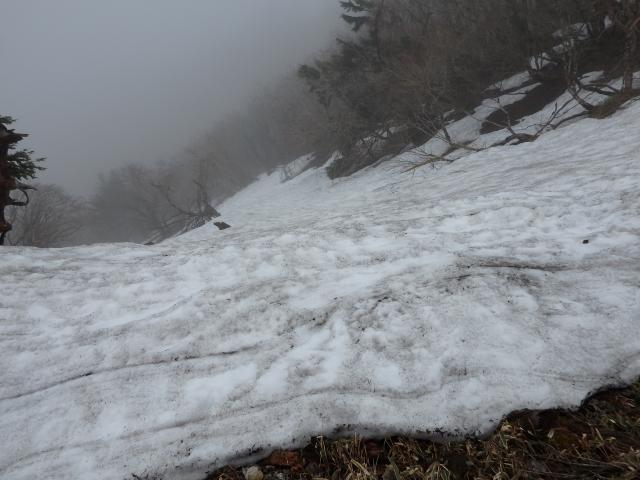 まだ大量の雪があった