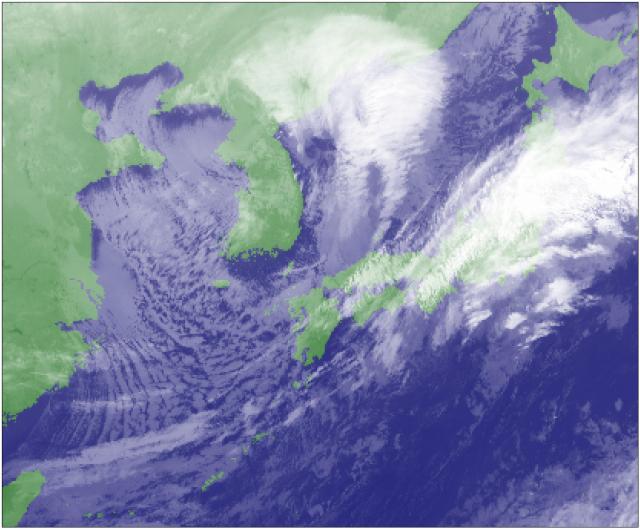 11月26日04時の赤外衛星画像
