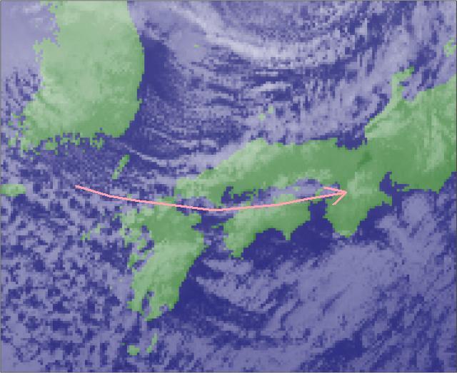 2015年11月26日21時30分の気象衛星画像抜粋