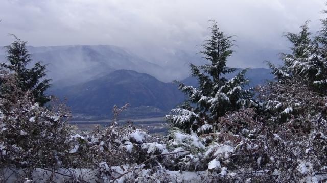 吉野川を挟んで向こう側の山々