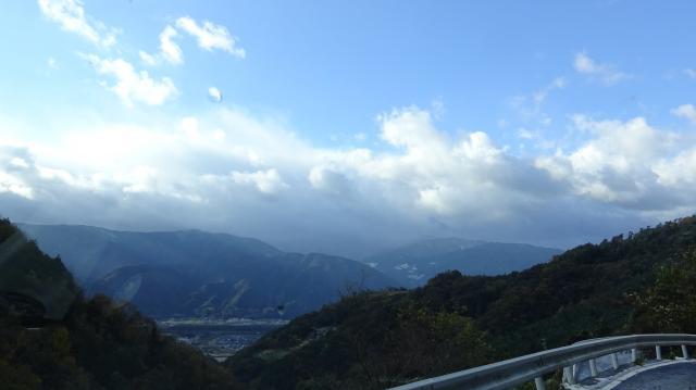 旧 井川町の腕山スキー場方面を見たところ