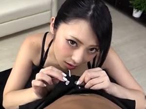 【桜井あゆ】いやらしい淫語とベロチューで挑発して主観フェラで搾り取る美痴女