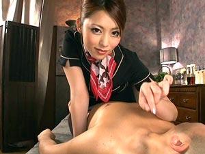 淫語と騎乗位と密着手コキマッサージで大量射精させる痴女エステ嬢 桜井あゆ