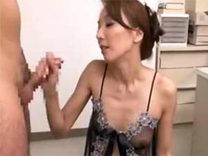 痴熟女上司の淫語手コキ