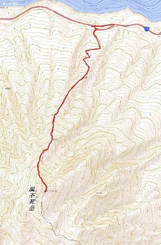 風不死岳トラック20151206