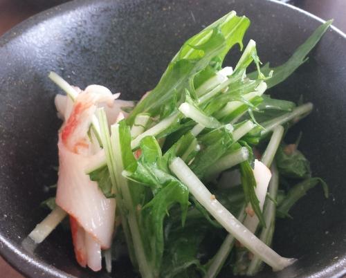 20161020_水菜サラダ (2)