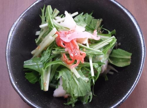 20161029_水菜サラダ(2)
